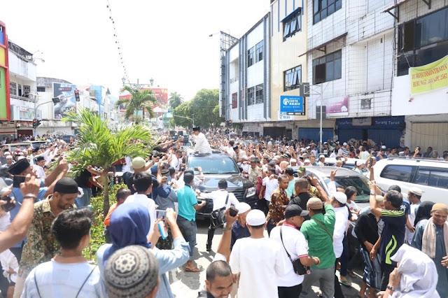 Ketika Muslim dan Nasrani Bersatu di Ambon, Kerinduan Rakyat Pada Prabowo Tak Terbendung
