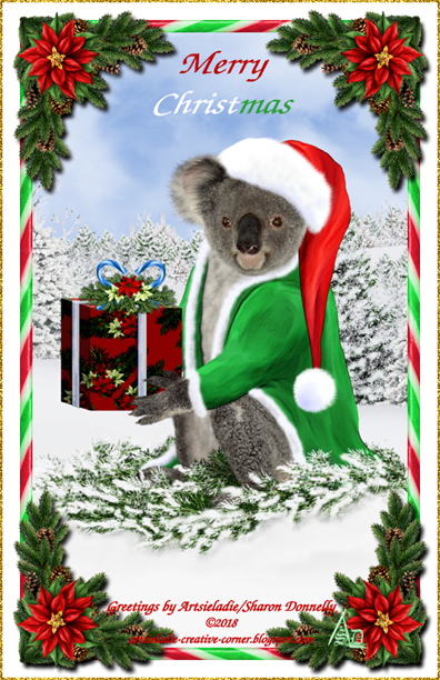 Koala Klaus (in green/red) art by/copyrighted to Artsieladie