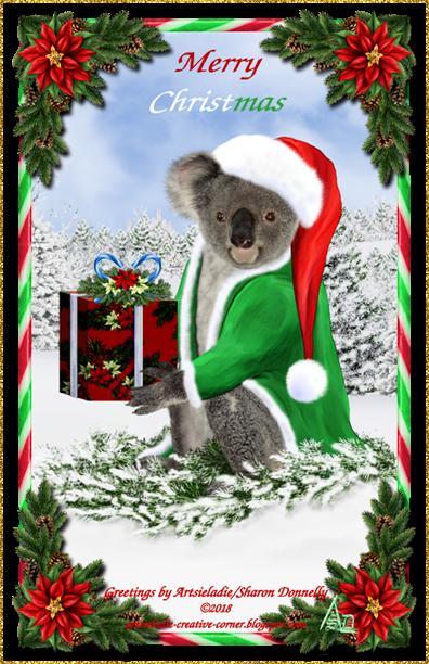 Koala Klaus (in green/red) art by/copyrighted to Artsieladie