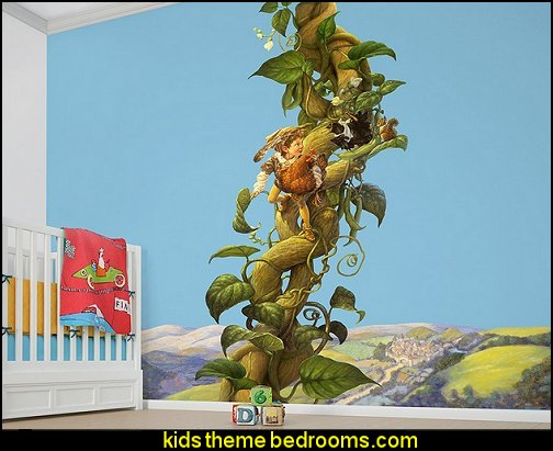 Jack and the Bean Stalk Wall Decal   Nursery Rhyme themed nursery decorating - Moon stars twinkle twinkle baby nursery decorating ideas -  storybook bedrooms - counting sheep baby bedroom ideas Humpty Dumpty decor - Mother Goose - moon stars baby bedding - Moon and Stars themed nursery - Nursery Rhymes wall murals - celestial themed baby nursery - moon stars wall stickers - stars clouds wall decals - moon stars baby bedroom ideas - moon stars nursery decor