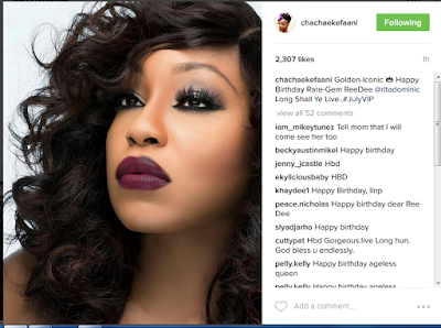 Alibaba,Toke, K8 Henshaw, Others Shower Rita Dominic With Lovely Birthday Wishes