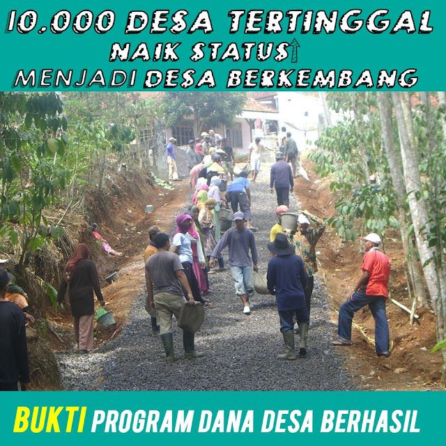 10.000 Desa Tertinggal Naik Status Menjadi Desa Berkembang