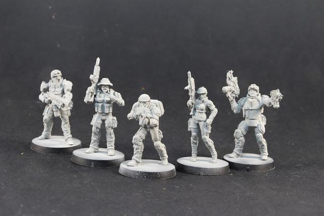 Figurines USAriadna Ranger Force du jeu Corvus belli Infinity.