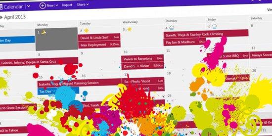 color a tu calendario de Outlook.com iniciar sesion