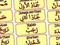 Nama-nama Bulan Hijriyah dan Masehi dalam Bahasa Arab