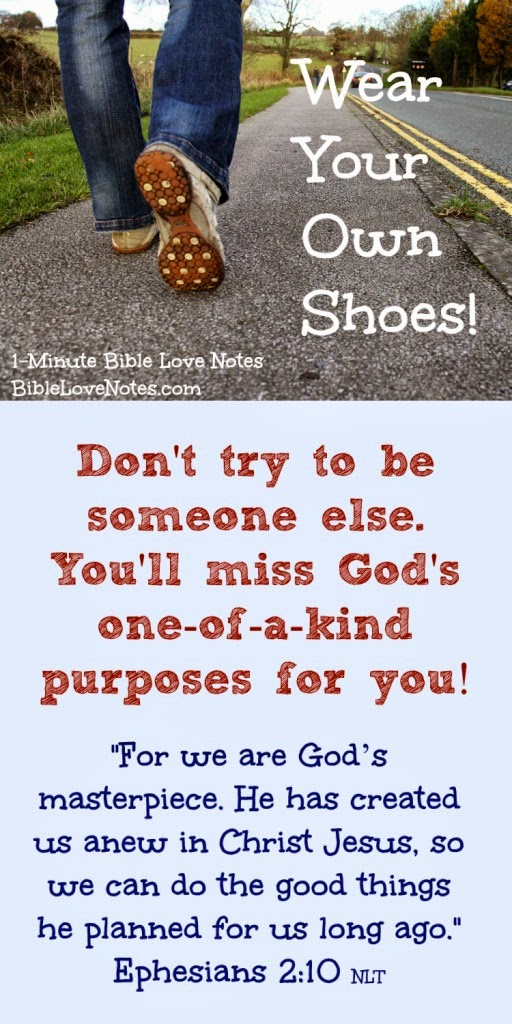 Ephesians 2:10,  Be yourself, Do ministry with your own gifts, Don't covet other people's gifts