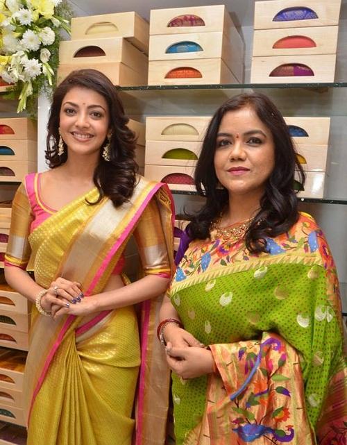 Beautiful Actress Kajal Agarwal at Trisha Designer Store