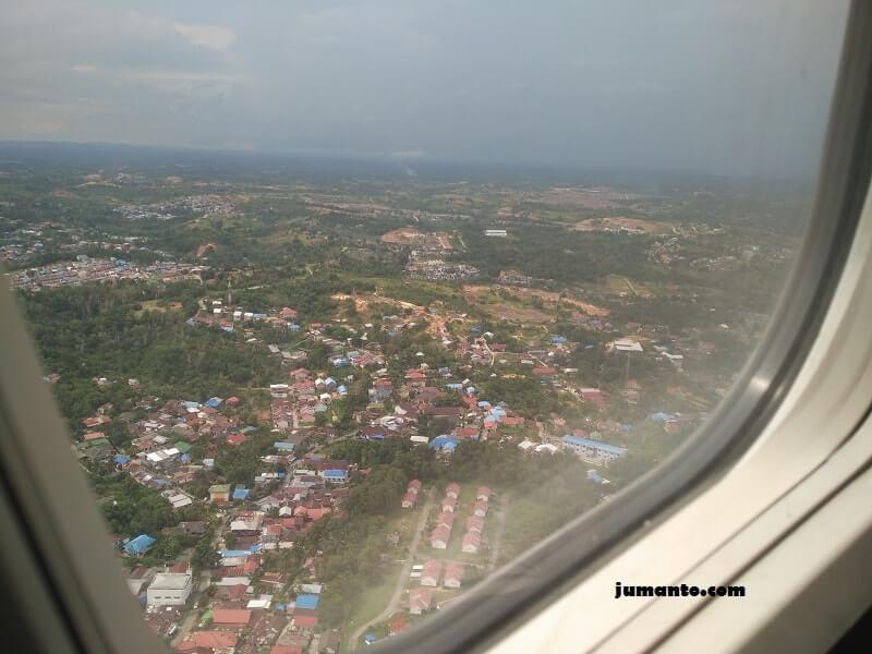 foto balikpapan dari pesawat