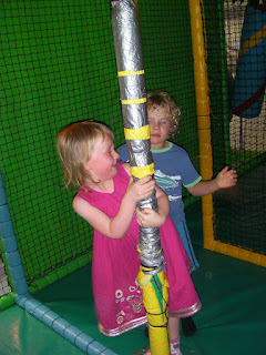 merry-go-round spinning pole in playzone krazy kaves