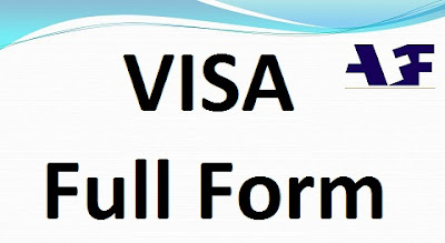 Visa Full Form name in ATM, Banking, Tourism, H1B, Hindi, English, Aviation.