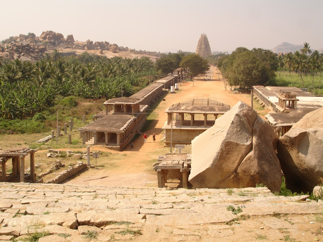 Hampi Bazaar and Virupaksha temple , Hampi - Pick, Pack, Go