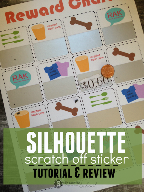 silhouette cameo scratch off sticker sheet, diy scratch offs
