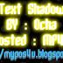 Cara Membuat Efek Tulisan Dengan CSS Text Shadow Keren !!!