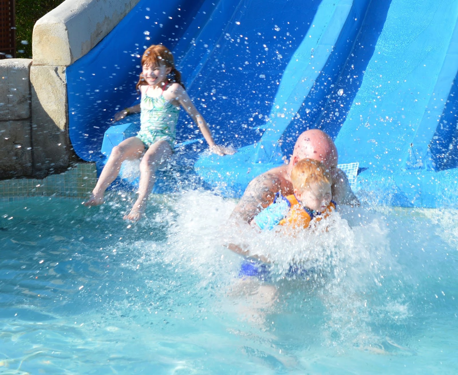 Pirate Swimming Pools and Mermaid Lessons at Pirates Village, Majorca - water slides