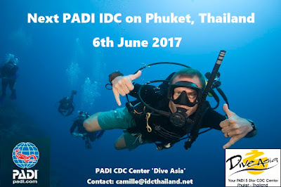 Next PADI IDC on Phuket starts 6th June 2017