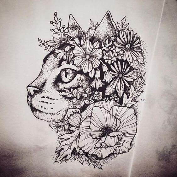Awesome Cat Tattoos For Women