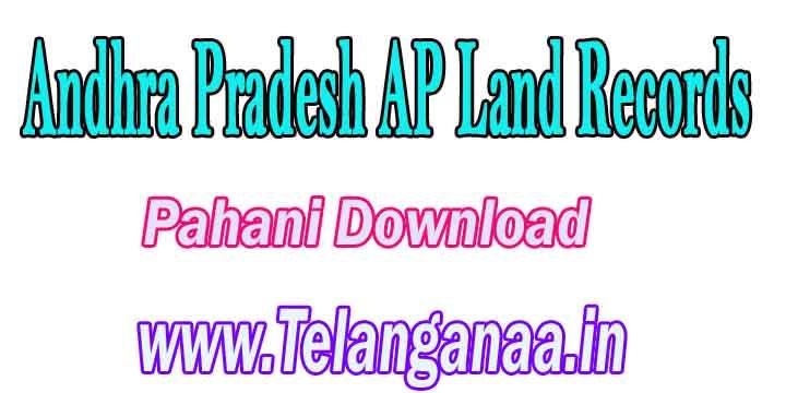 Andhra Pradesh AP Land Records Pahani Download at meebhoomi.ap.gov.in