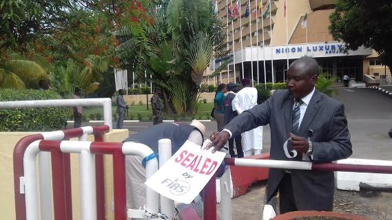 Nicon luxury hotel Abuja locked up for tax non payment