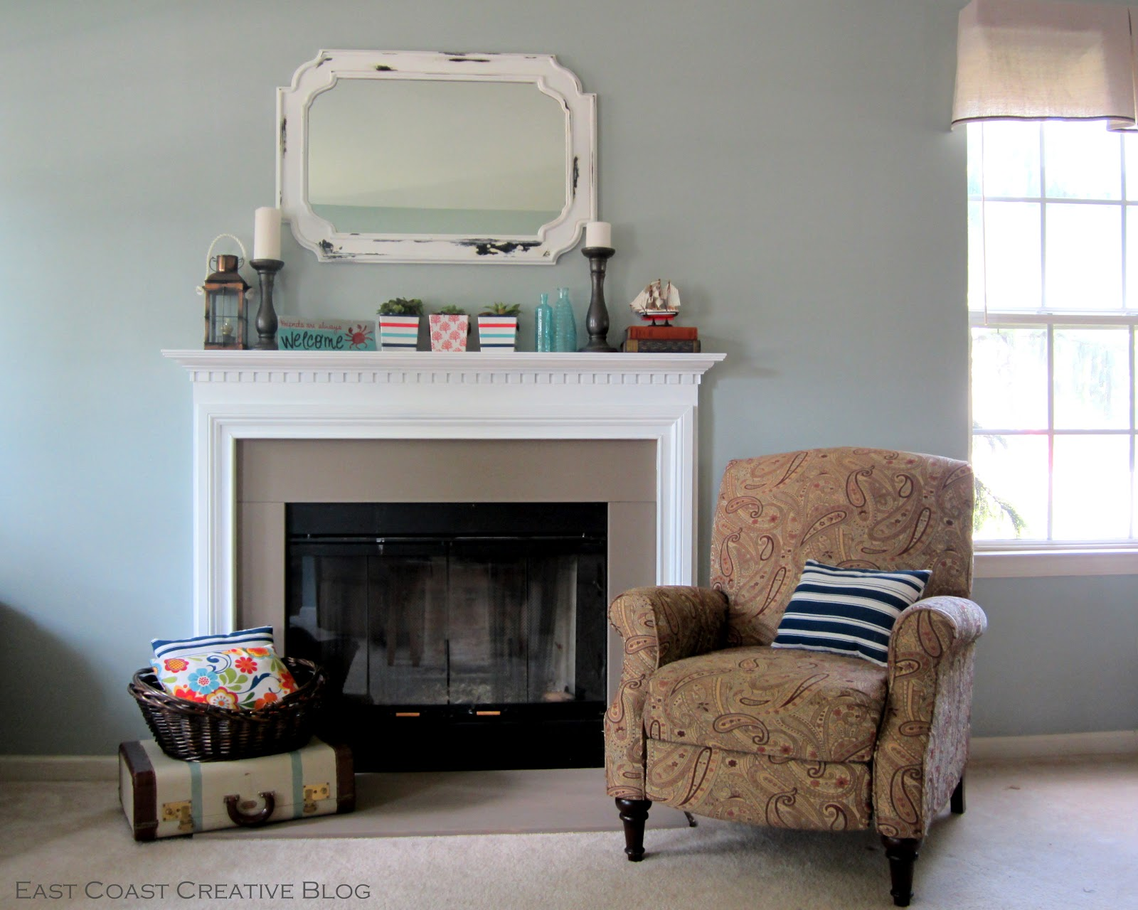 Simple Fireplace Upgrade using Annie Sloan Chalk Paint