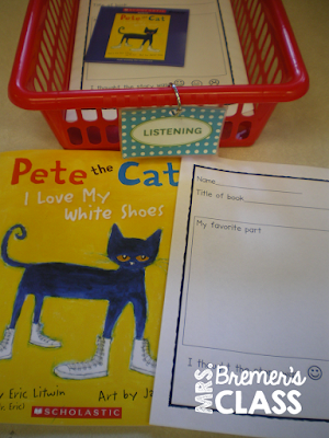 Kindergarten literacy center activities
