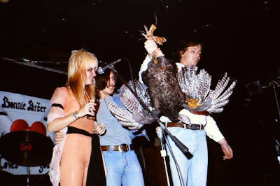 The Bonnie Parker Band playing at the Fore 'n Aft on Thanksgiving eve 1976. The club had a turkey raffle... and when the winner was called they handed her a LIVE turkey... LoL