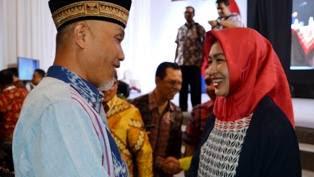Walikota Padang Ucapkan Selamat Kepada Airin Rachmi Diyani