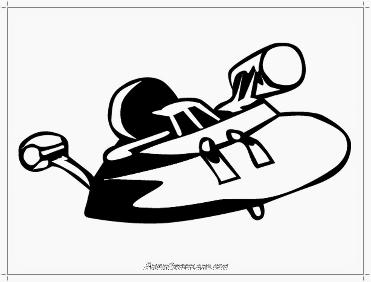 gambar pesawat alien untuk mewarnai