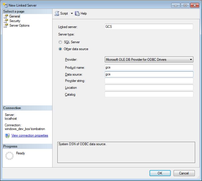 Tombatron: Establishing a Linked Server to Google Cloud SQL