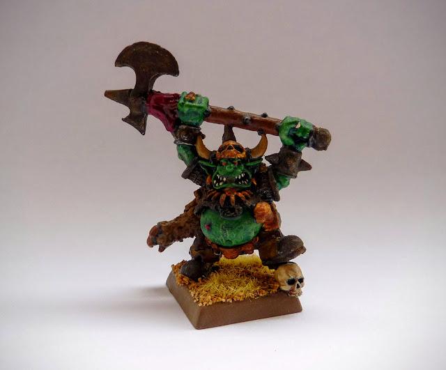 Goblin Grom the Paunch for Orcs & Goblins, Warhammer Fantasy Battle.