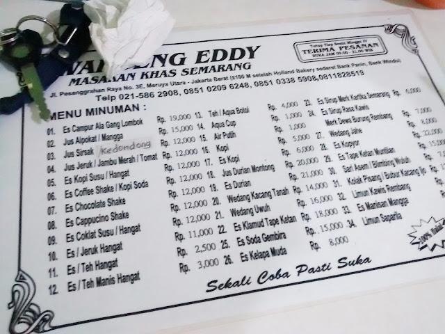 Waroeng Eddy semarang meruya