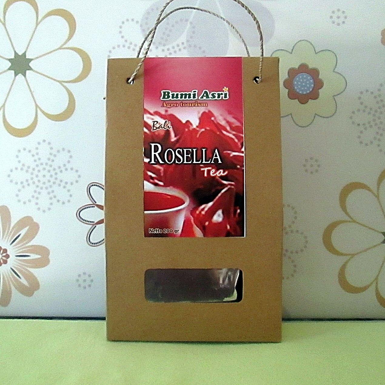 Rosella Flower Tea Powder 200 gram - bumi asri bali