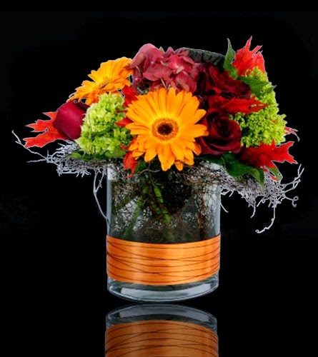 New England Foliage Custom Floral Arrangement
