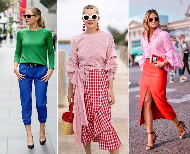 tendencias de moda primavera verão 2018 - color block