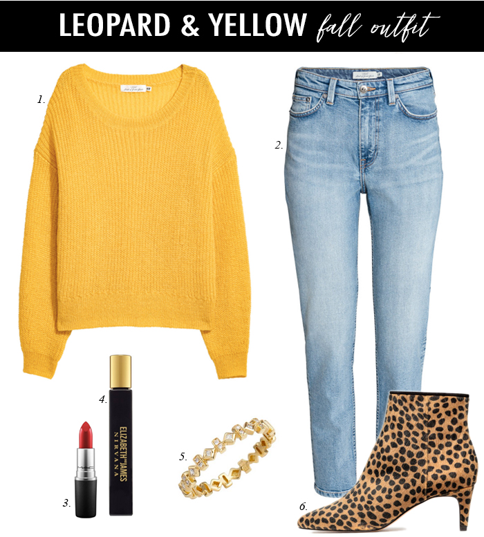 leopard booties fall outfit