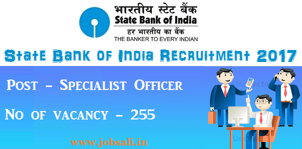 Jobs in SBI, SBI Vacancy, SBI Specialist officer vacancy 2017