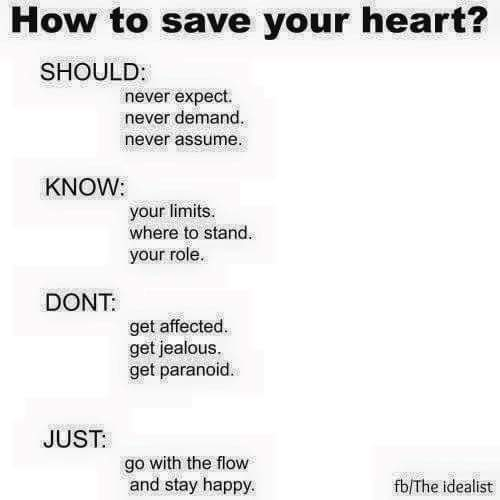 How to Save Your Heart?