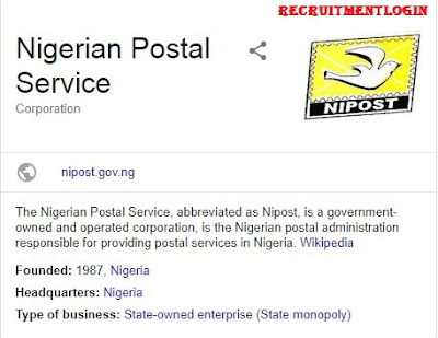 NIPOST Recruitment 2018/2019 | Application Form @www.nipost.gov.ng