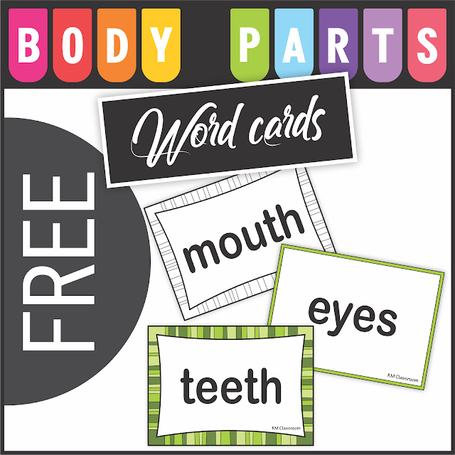 https://www.teacherspayteachers.com/Product/Free-Body-Parts-Word-Cards-4537277