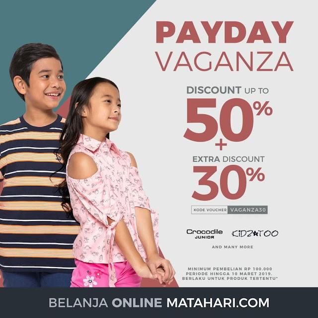 #Matahai - #Promo Voucher PAYDAY VAGANZA Diskon Hingga 50% + Extra 30%
