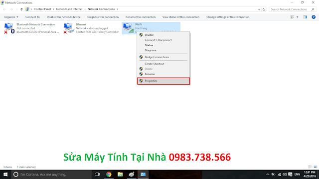 Đặt địa chỉ IP về thành IP động - H05