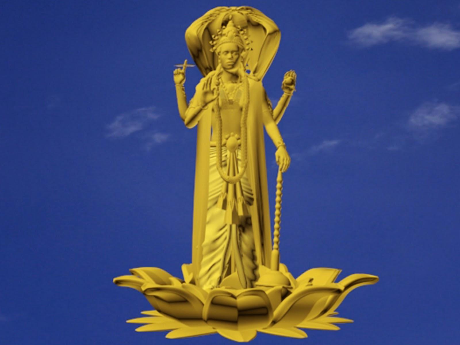 3D-max-modelling-hindu-god-vishnu-for-3D-Print