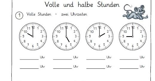 Arbeitsblätter Uhr Ganze Stunden : Endlich pause worksheet crafter teil