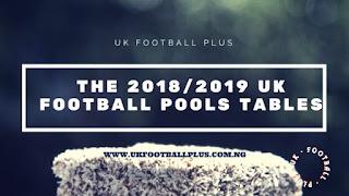 2018/2019 uk football pools season by www.ukfootballplus.com.ng