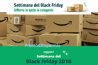 Logo Black Friday di Amazon : inizia la settimana di offerte con sconti oltre il 70%