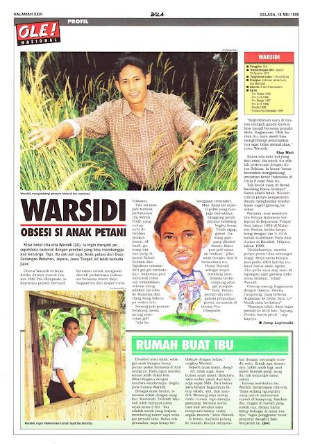LIGA INDONESIA PROFIL PEMAIN WARSIDI