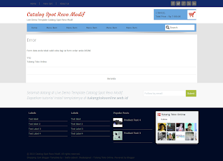 error page catalogspot revo modif