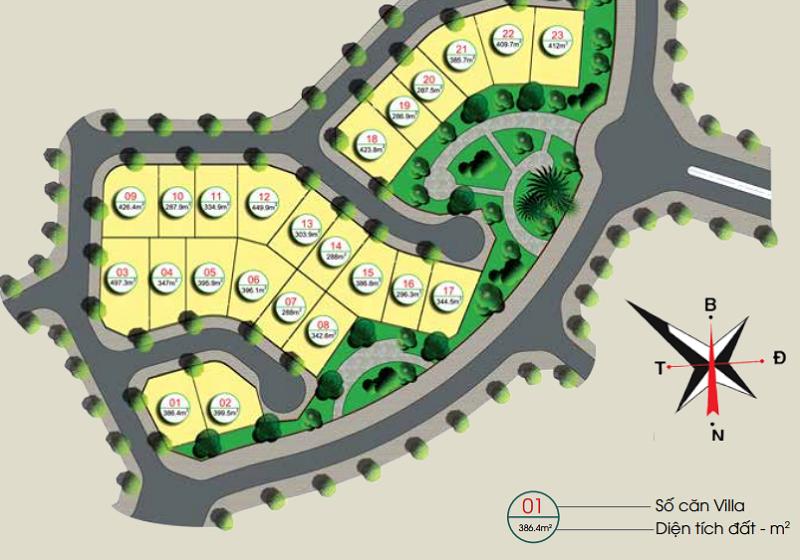 Phân lô SV23 dự án Gamuda Gardens.