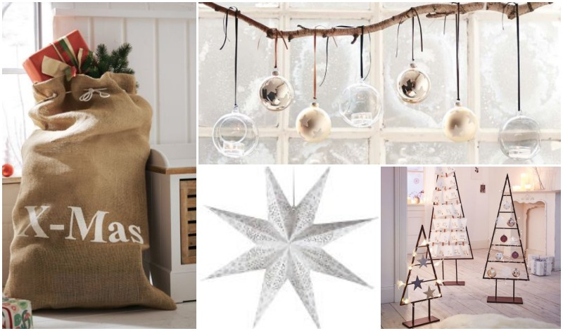 Christmas decoration inspiration Gingar Jutesack Stern Metallbaum