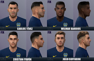 PES 6 Fixpack Boca Juniors 2018/2019 by Sevenes