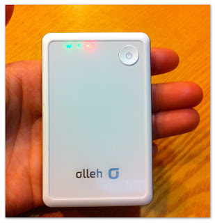 Korean Travel Online - KT Olleh WiBro Egg: Your portable wifi router